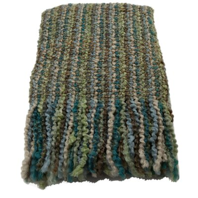 Ardmore Striped Woven Throw Blanket Color: Peacock