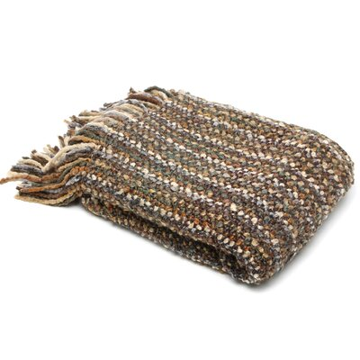 Ardmore Striped Woven Throw Blanket Color: Stone