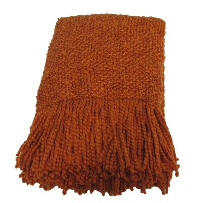 Templepatrick Decorative Throw Blanket Color: Mandarin