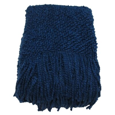 Templepatrick Decorative Throw Blanket Color: Indigo