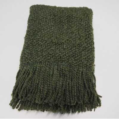 Templepatrick Decorative Throw Blanket Color: Moss