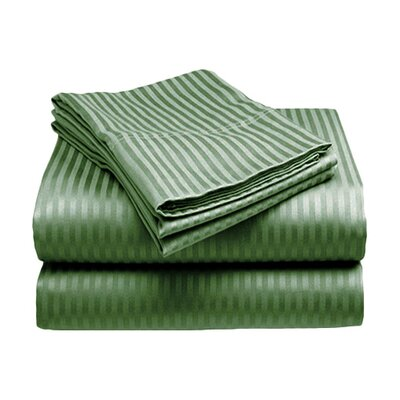 Amber Sheet Set Size: King, Color: Green