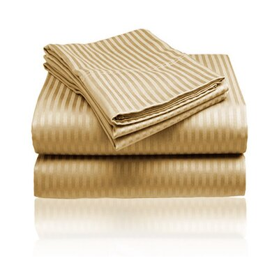 Amber Sheet Set Size: Queen, Color: Gold