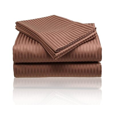 Amber Sheet Set Size: King, Color: Chocolate