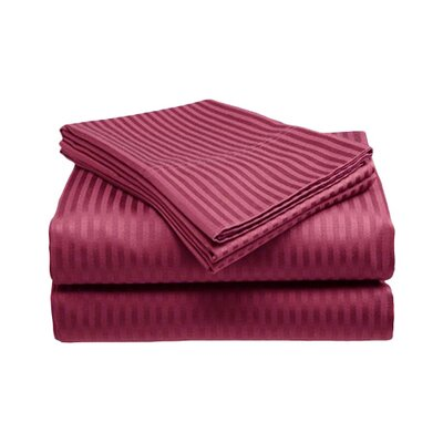 Amber Sheet Set Size: King, Color: Burgundy