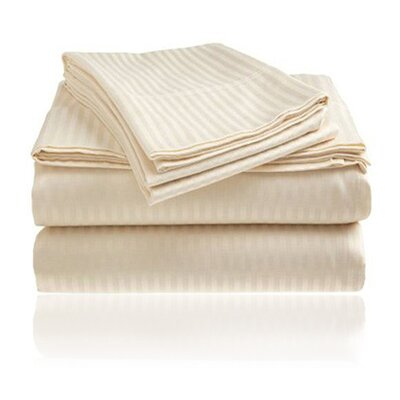 Amber Sheet Set Size: King, Color: Ivory