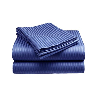 Amber Sheet Set Size: King, Color: Navy