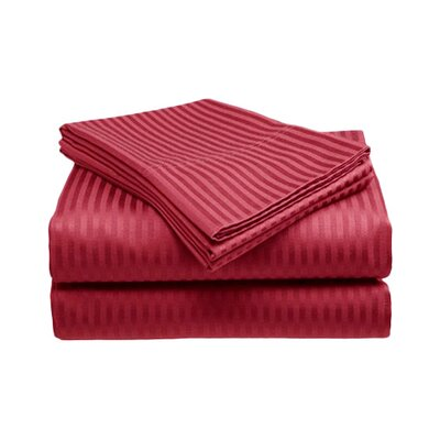 Amber Sheet Set Size: King, Color: Red