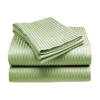 Amber Sheet Set Size: King, Color: Sage
