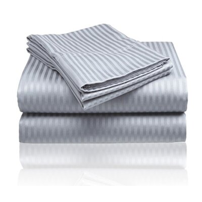Amber Sheet Set Size: King, Color: Gray