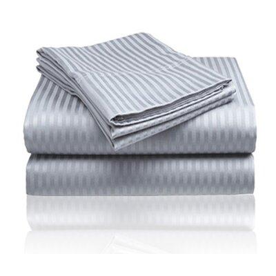 Amber Sheet Set Size: King, Color: Gray