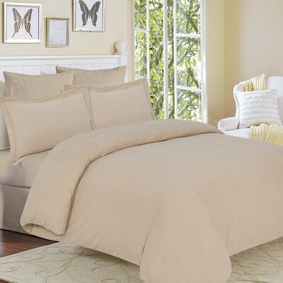Clarks Row 3 Piece Reversible Duvet Set Size: King, Color: Cashmere