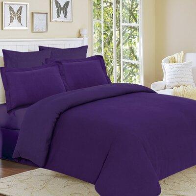 Clarks Row 3 Piece Reversible Duvet Set Color: Purple, Size: Queen
