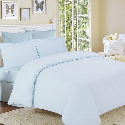 Clarks Row 3 Piece Reversible Duvet Set Size: King, Color: Sky Blue