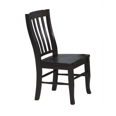 Calvert Solid Wood Dining Chair (Set of 2) Side Chair Finish: Ebony