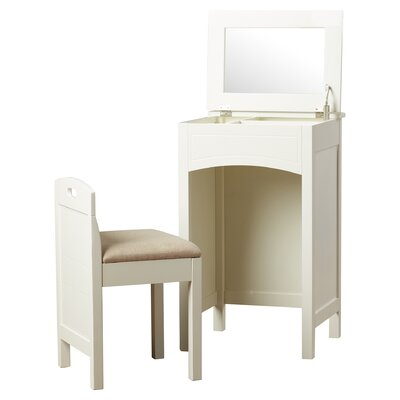 Corvally Vanity Set with Mirror Finish: White