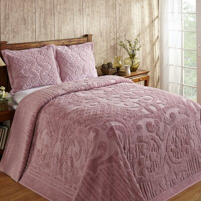 Kirkwall Bedspread Size: King, Color: Pink