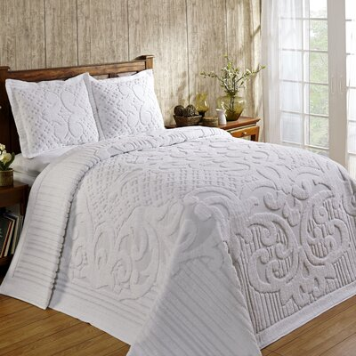 Kirkwall Bedspread Size: King, Color: White