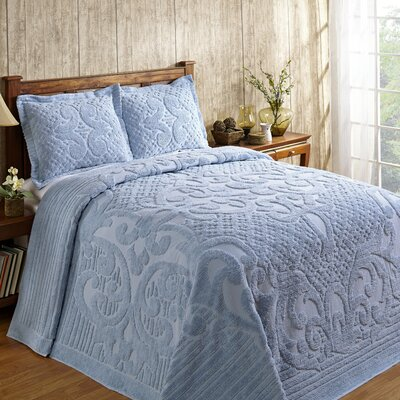 Kirkwall Bedspread Size: Queen, Color: Blue