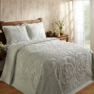 Kirkwall Bedspread Size: Full, Color: Sage