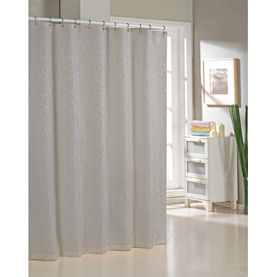 Blarwood Jacquard Shower Curtain Color: Silver