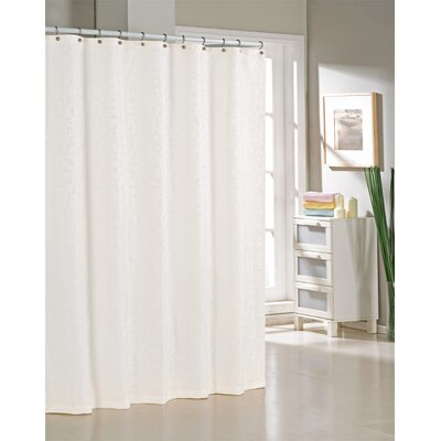 Blarwood Jacquard Shower Curtain Color: White