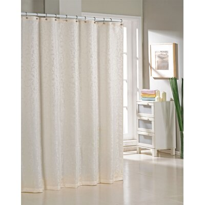 Blarwood Jacquard Shower Curtain Color: Ivory