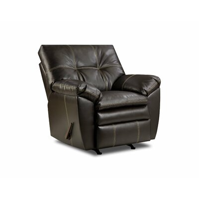 Simmons Upholstery Merriwood Rocker Recliner Upholstery: Chocolate