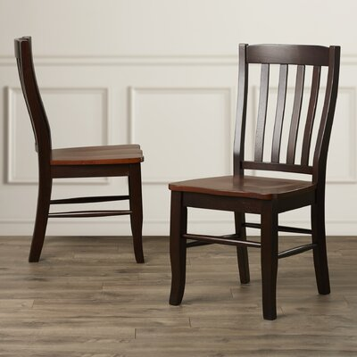 Calvert Side Chair (Set of 2) Side Chair Finish: Chestnut/Espresso
