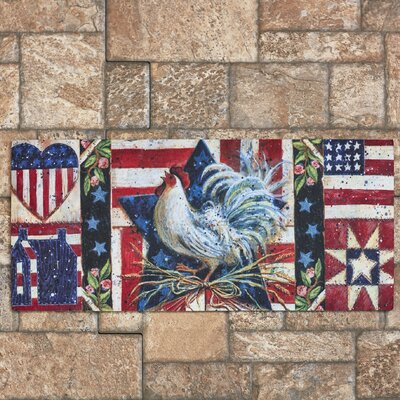Francis American Folk Rooster Switch Doormat
