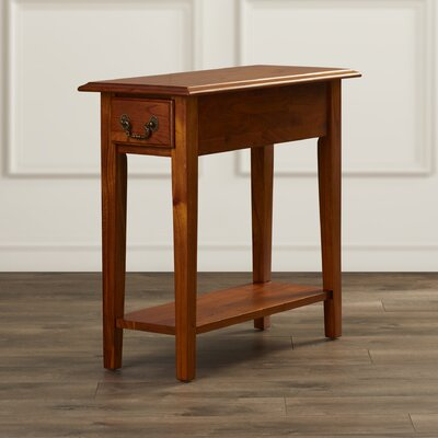 Revere Broomhedge End Table With Storage Color: Chestnut