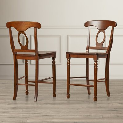 Corell Park 24 Bar Stool (Set of 2) Finish: Derby Brown