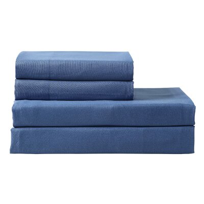 Braesgate 300 Thread Count Pillow Cases Color: Navy, Size: King