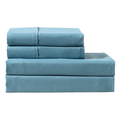 Palladio 300 Thread Count 100% Cotton Sheet Set Color: Blue