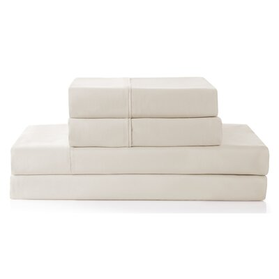 Columbard 300 Thread Count 100% Cotton Sheet Set Color: Ivory, Size: Full