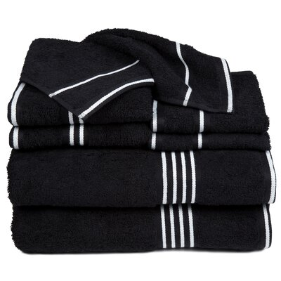 Egyptian Quality Cotton 8 Piece Towel Set Color: Black