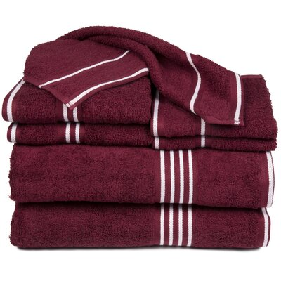 Egyptian Quality Cotton 8 Piece Towel Set Color: Burgundy