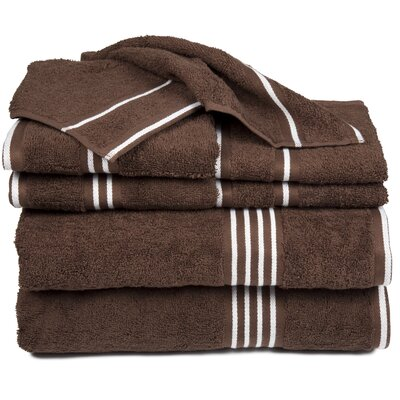 Egyptian Quality Cotton 8 Piece Towel Set Color: Chocolate