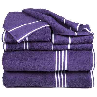 Egyptian Quality Cotton 8 Piece Towel Set Color: Eggplant