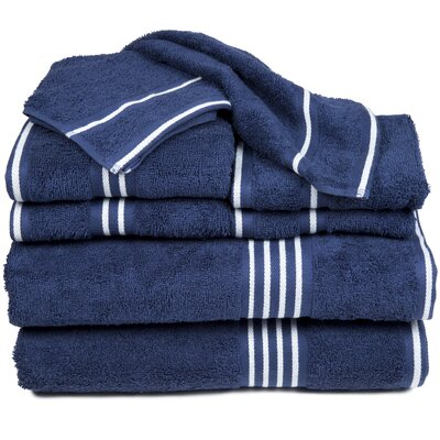 Egyptian Quality Cotton 8 Piece Towel Set Color: Navy