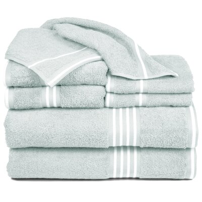 Egyptian Quality Cotton 8 Piece Towel Set Color: Seafoam