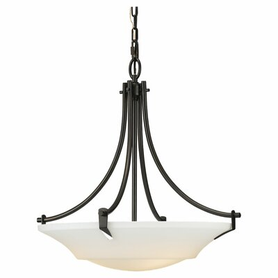 Pompton 3-Light Inverted Pendant Finish: Oil Rubbed Bronze