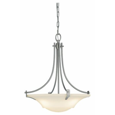 Pompton 3-Light Inverted Pendant Finish: Brushed Steel
