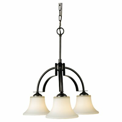 Pompton 3-Light Shaded Chandelier Finish: Oil Rubbed Bronze