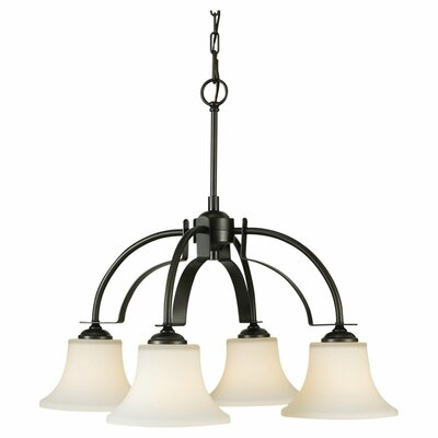 Pompton 4-Light Shaded Chandelier Finish: Oil Rubbed Bronze