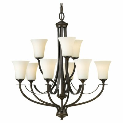 Pompton 9-Light Shaded Chandelier Finish: Oil Rubbed Bronze