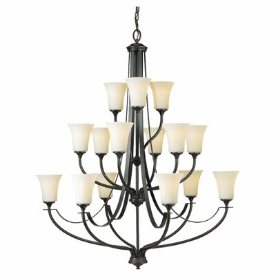 Pompton 15-Light Shaded Chandelier Finish: Oil Rubbed Bronze