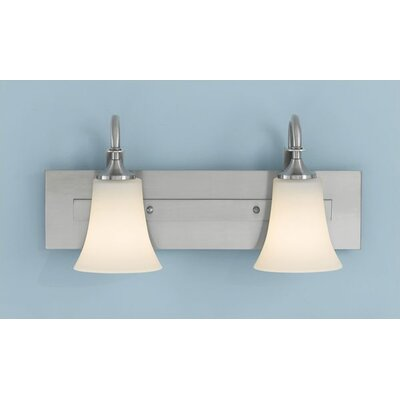 Pompton 2-Light Vanity Light Finish: Brushed Steel