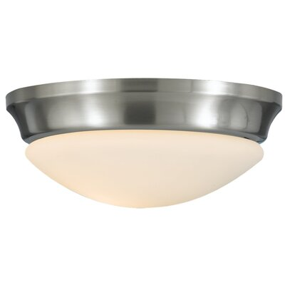 Pompton 1-Light Flush Mount Finish: Brushed Steel