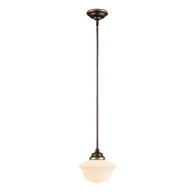 Belgrave Falls 1-Light Mini Pendant Size: 40.625 H x 9 W, Finish: Old Bronze